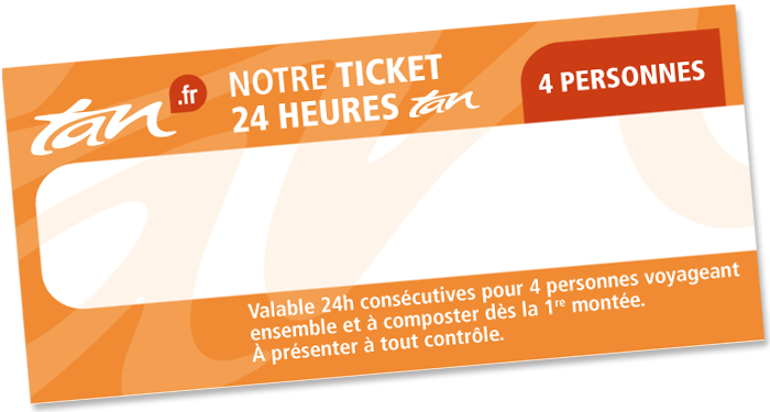 Ticket 24h / 4 personnes